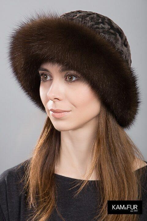 Шляпа из куницы и каракуля