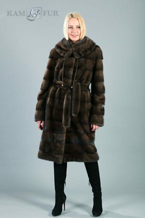 Пальто из меха норки, поперечка
