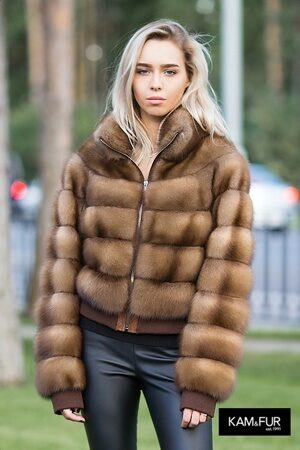 Куртка из меха куницы